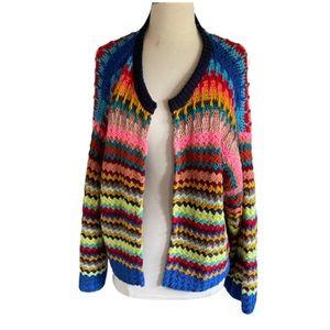 Anthropologie Moth multicolor retro  knit sweater